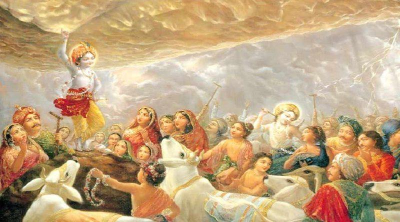 Goverdhan and Krishna